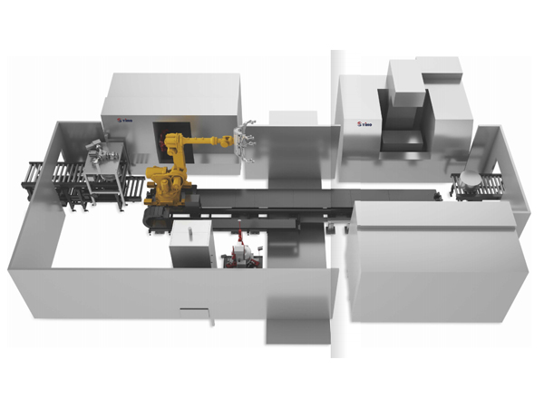 Groundrall type robotic cnc automatic production line
